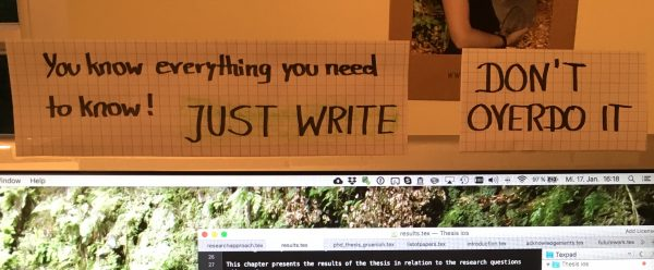 Reminders: Just write and don't overdo it